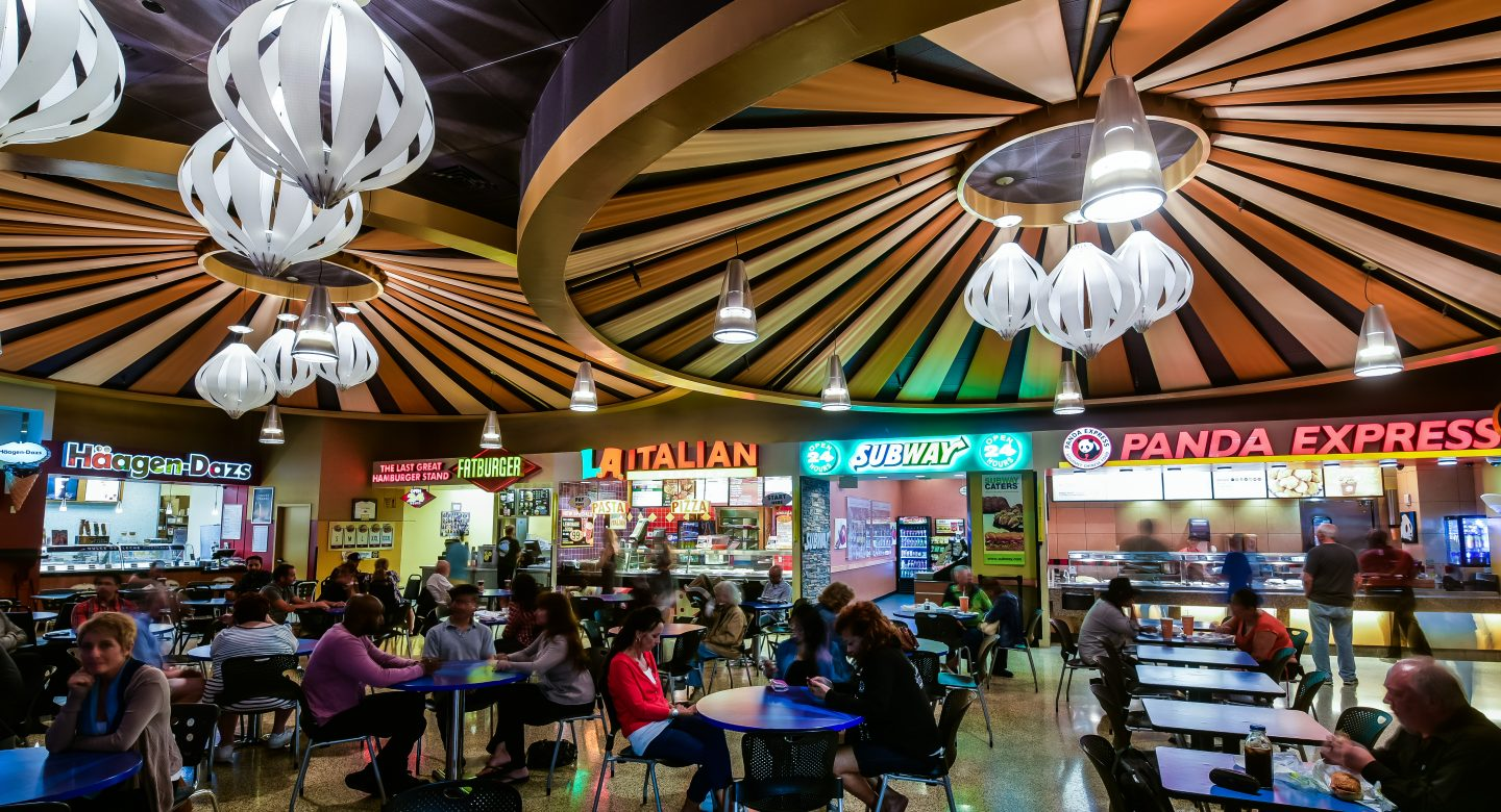 Indoor food court in the casino